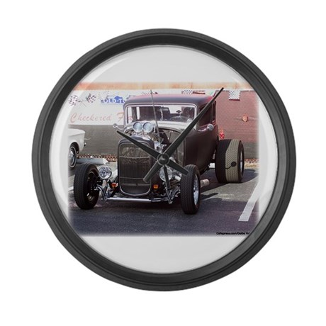 Hot Rod Large Wall Clock