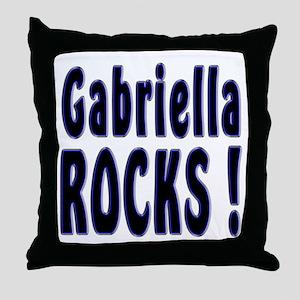 Gabriella Rocks ! Throw Pillow