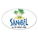 Sanibel Therapy Oval Sticker