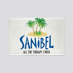 Sanibel Therapy Rectangle Magnet