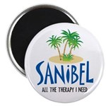 """Sanibel Therapy 2.25"""" Magnet (10 pack)"""