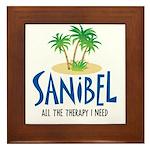 Sanibel Therapy Framed Tile
