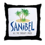 Sanibel Therapy Throw Pillow