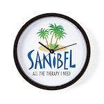 Sanibel Therapy Wall Clock