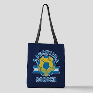 Argentina Soccer Polyester Tote Bag