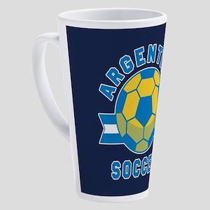 Argentina Soccer 17 oz Latte Mug