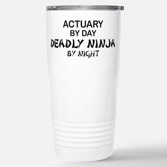Actuary Deadly Ninja Stainless Steel Travel Mug