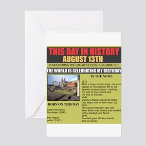 august 13th-birthday Greeting Card