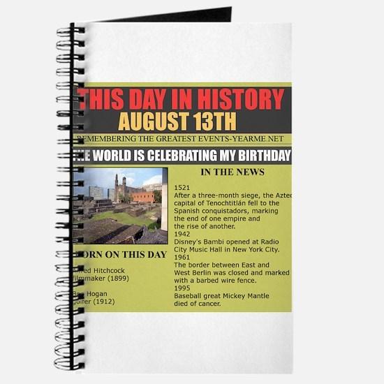august 13th-birthday Journal