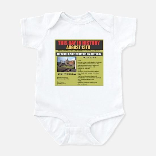 august 13th-birthday Infant Bodysuit
