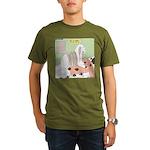 Shih Tzu Shiitake Shi Organic Men's T-Shirt (dark)