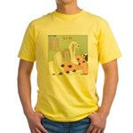 Shih Tzu Shiitake Shiatsu Yellow T-Shirt