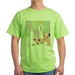 Shih Tzu Shiitake Shiatsu Green T-Shirt