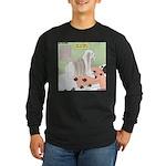 Shih Tzu Shiitake Shiatsu Long Sleeve Dark T-Shirt