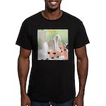 Shih Tzu Shiitake Shia Men's Fitted T-Shirt (dark)