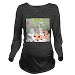 Shih Tzu Shiitake Sh Long Sleeve Maternity T-Shirt