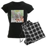 Shih Tzu Shiitake Shiatsu Women's Dark Pajamas