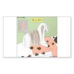 Shih Tzu Shiitake Shiats Sticker (Rectangle 10 pk)