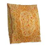 English Needlework Burlap Throw Pillow