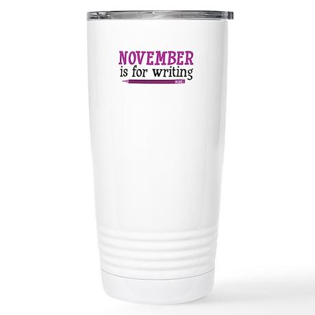 November is for Writing Stainless Steel Travel Mug
