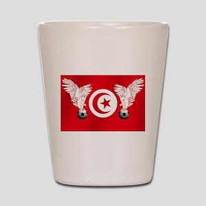 Tunisian Football Shot Glass