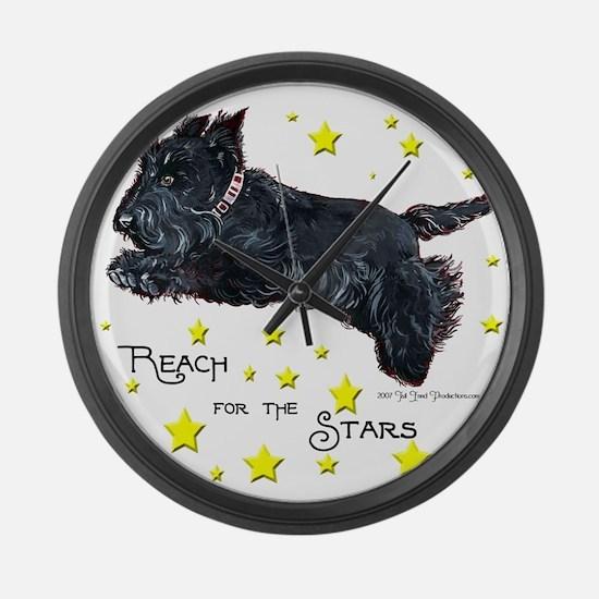 Scottish Terrier Star Large Wall Clock