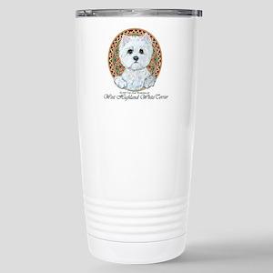 Westie Medallion Terrier Stainless Steel Travel Mu