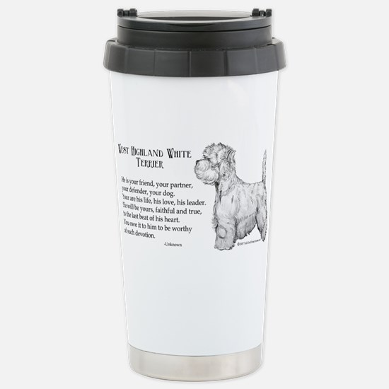 Westhighland Terrier Devotion Stainless Steel Trav