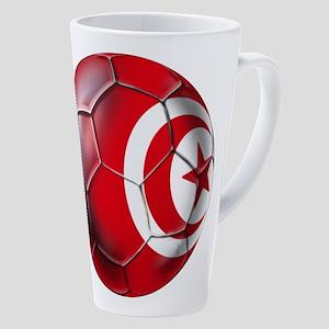 Tunisian Football 17 Oz Latte Mug