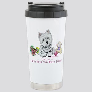 Westhighland Terrier Love Stainless Steel Travel M