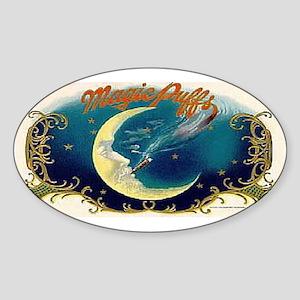 Magic Puffs Art Oval Sticker