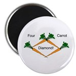 "4 Carrot Diamond 2.25"" Magnet (10 pack)"
