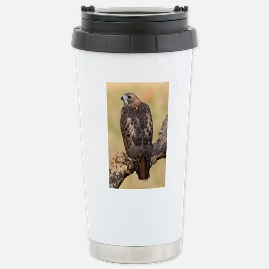Red Tail Hawk Stainless Steel Travel Mug