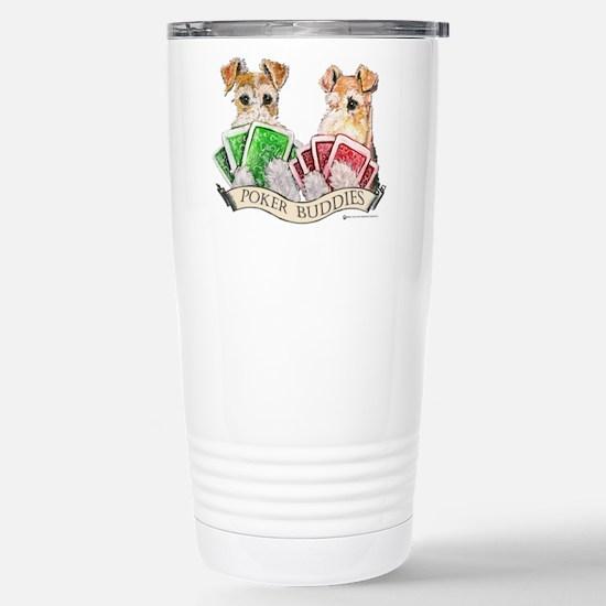 Fox Terrier Poker Buddies Stainless Steel Travel M