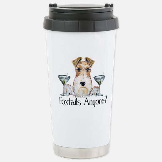Wire Fox Terrier Pary Stainless Steel Travel Mug