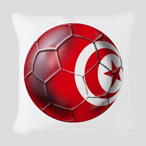 Tunisian Football Woven Throw Pillow