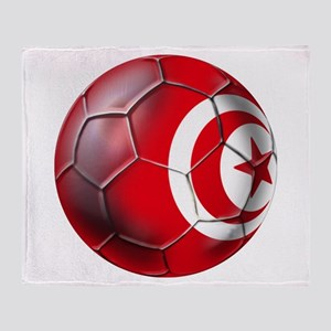 Tunisian Football Throw Blanket
