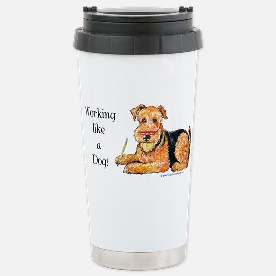 Working Airedale Stainless Steel Travel Mug