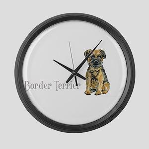 Border Terrier Large Wall Clock