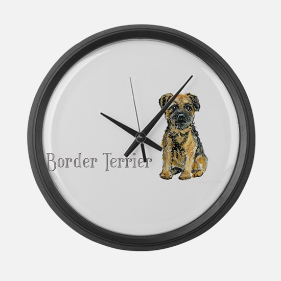 Border Terrier Large Wall Clock