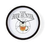 The Beer Hunter Wall Clock