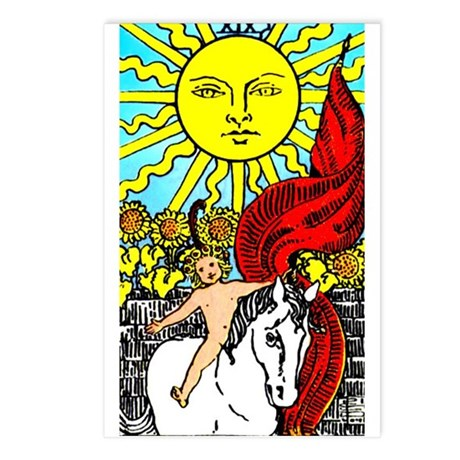 Sun Tarot Postcards (Package of 8)