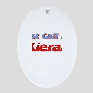 Just Call Me Kieran Oval Ornament
