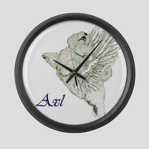 Westie Angel - Axl Large Wall Clock