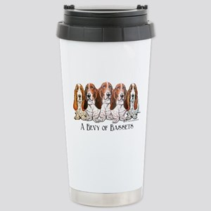 Basset Hound Bevy Stainless Steel Travel Mug