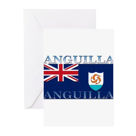 Anguilla Flag Greeting Cards (Pk of 10)