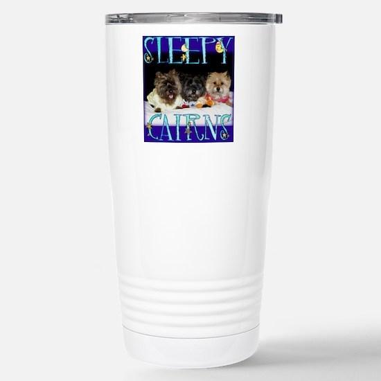 Sleepy Cairn Terriers Stainless Steel Travel Mug