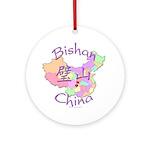 Bishan China Map Ornament (Round)