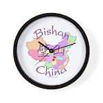 Bishan China Map Wall Clock