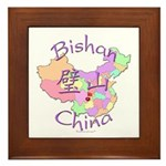 Bishan China Map Framed Tile